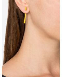 Gemma Redux | Yellow Short Bar Earrings | Lyst