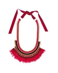 Margot & Me | Red Willow Necklace In Oleander | Lyst