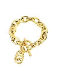Michael Kors - Metallic Logo-lock Charm Women's Bracelet - Lyst