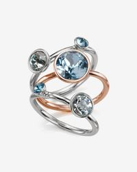 Ted Baker - Blue Jewel Cluster Ring - Lyst