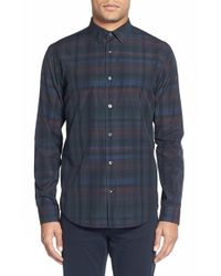 VINCE | Green 'melrose' Trim Fit Sport Shirt for Men | Lyst