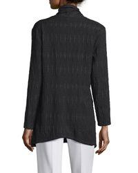 Natori - Black Long-sleeve Belted Cardigan - Lyst