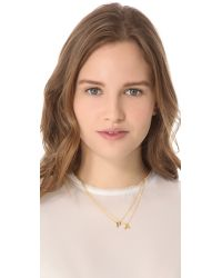 Gorjana - Metallic Alphabet Necklace - T - Lyst