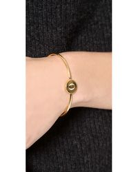 Sarah Chloe - Metallic Ella Engraved Adjustable Bracelet - Lyst