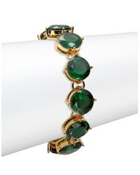 Lauren by Ralph Lauren | Green Emerald Crystal Bracelet | Lyst