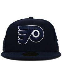 KTZ - Blue Philadelphia Flyers C-dub 59fifty Cap for Men - Lyst