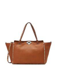 Valentino - Medium Rockstud Shopper - Brown - Lyst