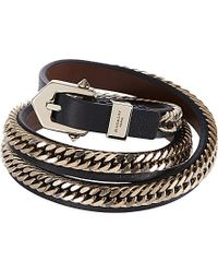 Givenchy | Black Three Row Bracelet | Lyst