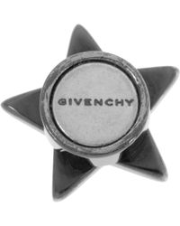 Givenchy | Black Small Shark Star Earring in Gunmetaltone Brass and Crystal | Lyst