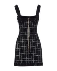 Balmain - Black Short Dress - Lyst