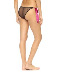 L'Agent by Agent Provocateur | Anetta Tie Side Briefs - Black/pink | Lyst