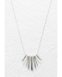 Forever 21 | Metallic Longline Bar Charm Necklace | Lyst