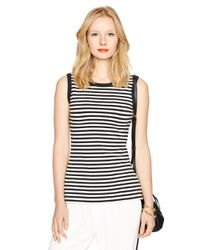 kate spade new york | Black Cameo Back Sleeveless Top | Lyst