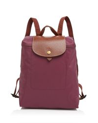 Longchamp - Purple Backpack - Le Pliage - Lyst