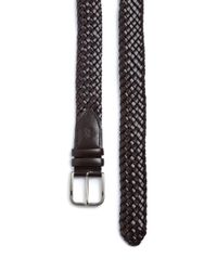 Canali - Brown Woven Leather Belt for Men - Lyst