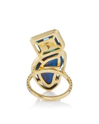 Jordan Alexander - Mo Exclusive: 18k Gold London Blue Topaz And Azurite Ring - Lyst