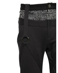 Nicopanda - Black Paneled Cotton Jogging Pants - Lyst