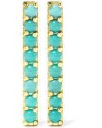 Jennifer Meyer | Blue 18-karat Gold Turquoise Earrings | Lyst