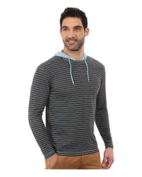 Agave - Blue Long Sleeve Hoodie/crew Stripe for Men - Lyst