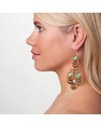 Lele Sadoughi | Orbit Chandelier Earrings, Green | Lyst