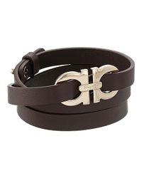 Ferragamo - Metallic Gancio Dg Bracelet - Lyst
