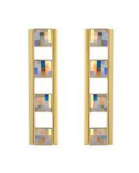 Stella Valle | Metallic Bahrain Bar Earrings | Lyst