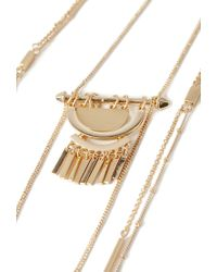 Forever 21 | Metallic Beaded Pendant Necklace You've Been Added To The Waitlist | Lyst