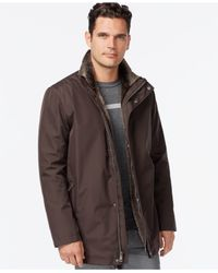 Cole Haan | Black Full-zip Jacket With Removable Faux-fur Vest for Men | Lyst