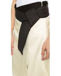 3.1 Phillip Lim | Judo Stitch Belted Skirt - Antique White | Lyst