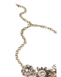 Forever 21 | Purple Bejeweled Floral Necklace | Lyst