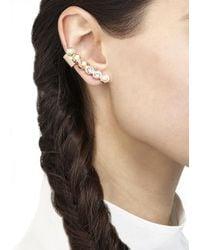 MFP MariaFrancescaPepe - Metallic Gold Plated Brass Swarovski Earrings - Lyst
