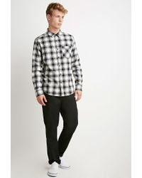 Forever 21 | White Plaid Flannel Shirt You've Been Added To The Waitlist for Men | Lyst