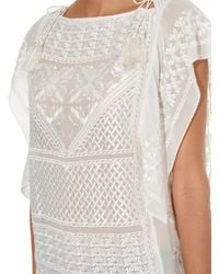 Isabel Marant - Blue Allen Embroidered-Georgette Top - Lyst