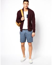 ASOS - Blue Chino Shorts In Twill With Belt for Men - Lyst