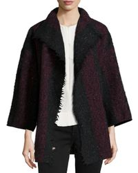 IRO - Purple Beverly Striped Knit Jacket - Lyst