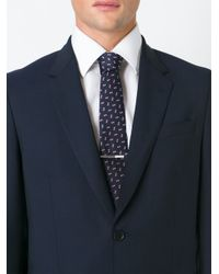 Lanvin - Blue Textured Tie for Men - Lyst