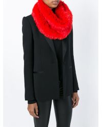 Yves Salomon - Red Circle Scarf - Lyst