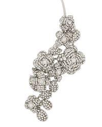 BCBGMAXAZRIA   Metallic Floral Stone Cascade Necklace   Lyst