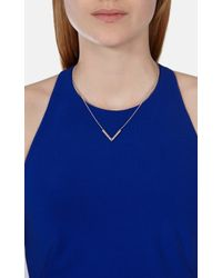 Karen Millen - Multicolor The Angle Crystal Pendant - Lyst