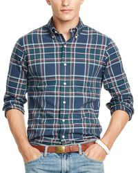Ralph Lauren - Blue Polo Plaid Oxford Shirt for Men - Lyst
