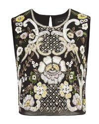 Needle & Thread | Black Ornate Sunflower Top | Lyst