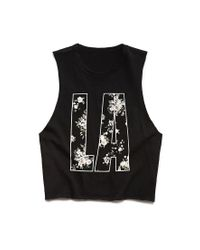 Forever 21 - Black City Of Angels Muscle Tee - Lyst