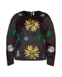 TOPSHOP | Blue Multi Flower Sweatshirt | Lyst