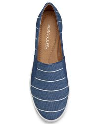 Aerosoles | Blue Printed Faux Leather Slip-On Sneakers | Lyst