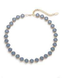 Cara - Blue Bezel Strand Necklace - Lyst