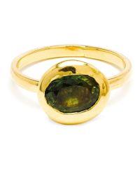 Natasha Collis | Metallic Sapphire Nugget Ring | Lyst