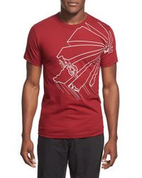 Casual Industrees | Red 'washington Outline' Graphic T-shirt for Men | Lyst