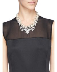 Joomi Lim | White 'rebel Romance' Faux Pearl Crystal Collar Necklace | Lyst