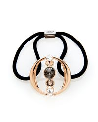 Colette Malouf | Black Steel & Diamond O Pony | Lyst
