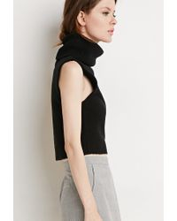Forever 21 | Black Contemporary Turtle Neck Sweater Vest | Lyst